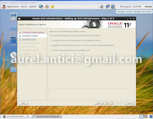 Ghid de instalare rapida Oracle 11g R2 RAC, instalarea Oracle Grid si Oracle Database (2/6)