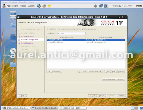 Ghid de instalare rapida Oracle 11g R2 RAC, instalarea Oracle Grid si Oracle Database (3/6)