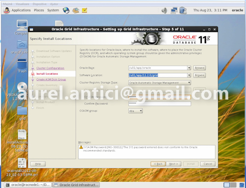 Ghid de instalare rapida Oracle 11g R2 RAC, instalarea Oracle Grid si Oracle Database (4/6)