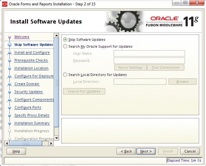 Instalarea Oracle Forms and Reports 11gR2 (II) (2/6)