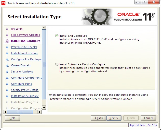 Instalarea Oracle Forms and Reports 11gR2 (II) (3/6)
