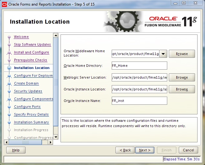 Instalarea Oracle Forms and Reports 11gR2 (II) (5/6)