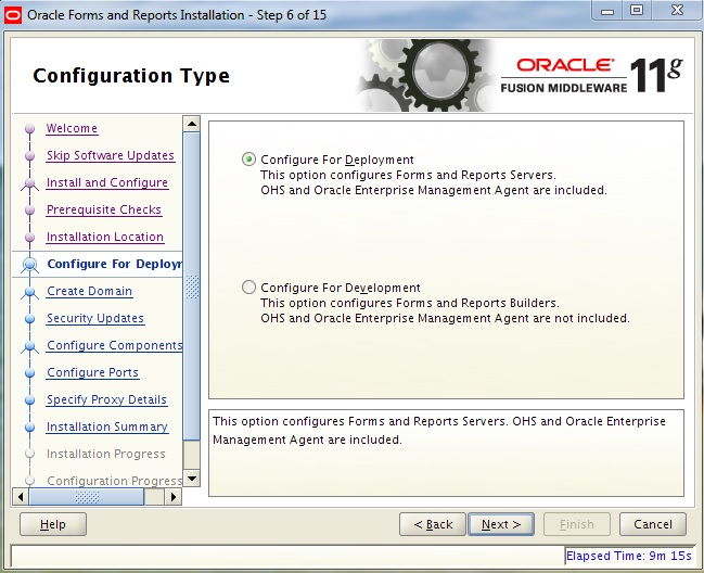 Instalarea Oracle Forms and Reports 11gR2 (II) (6/6)